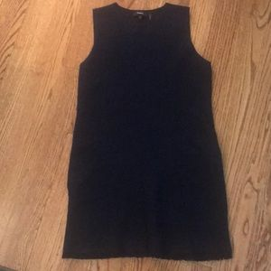 Cotton navy sleeveless dress